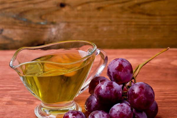 Grape seed oil for hair and skin care
